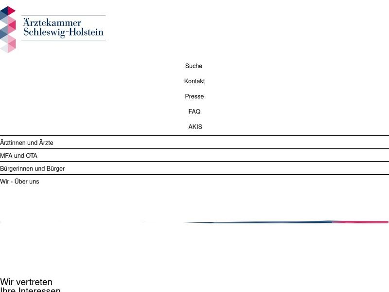 Screenshot von www.aeksh.de